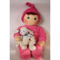 Baby Bows is a 2 faced Baby Free Cloth Doll Pattern