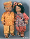 tyler & sharice & tebo the turtle Cloth Doll Pattern - Click HERE!